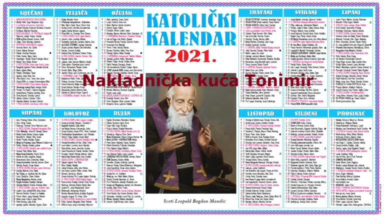 Jednolisni kalendari za 2021.